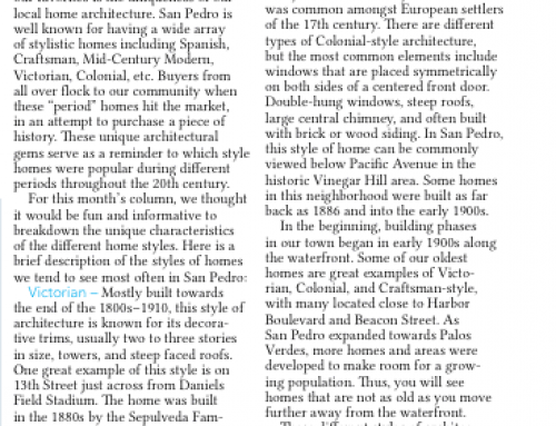 Historical Local Home Styles – San Pedro Today